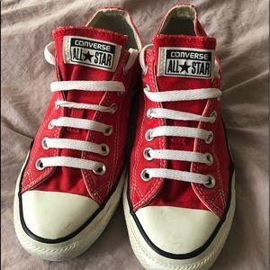 Red Converse Allstar's Women's size 7